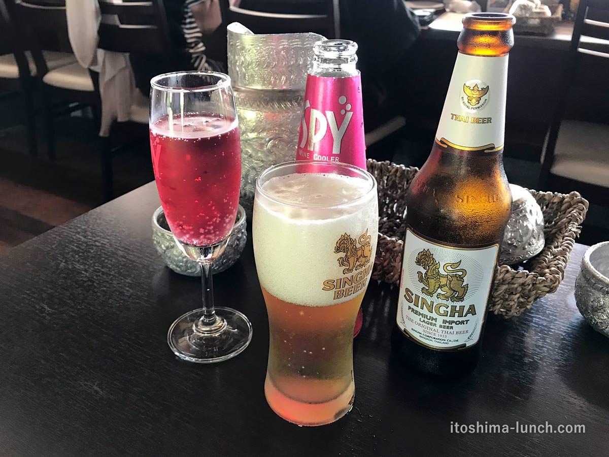 写真:福岡糸島 ドゥワンチャン タイビールとワイン