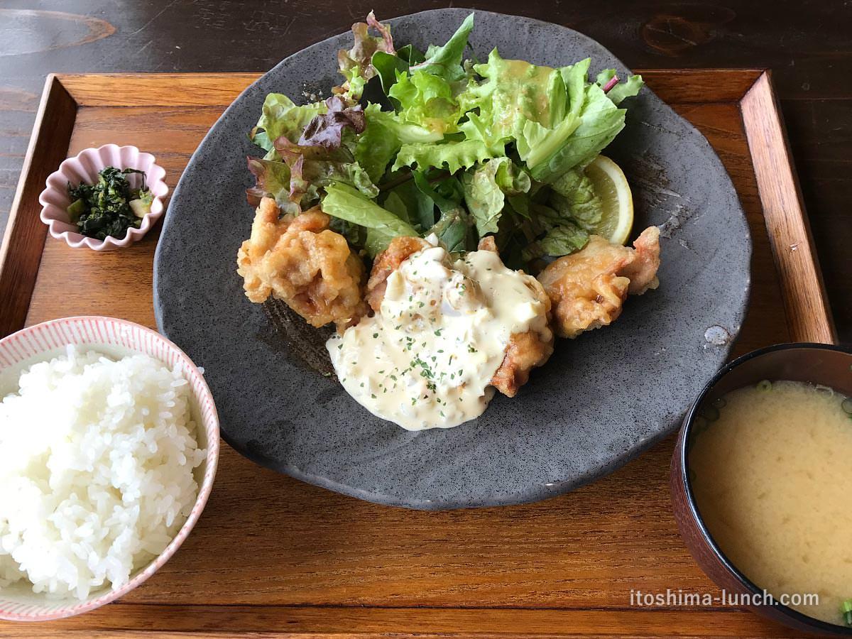 写真:福岡糸島 御飯屋おはな チキン南蛮プレート