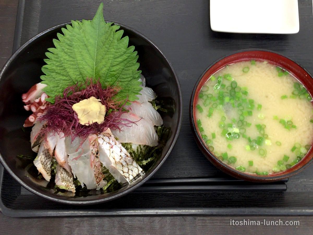 写真:志摩の四季 志摩の海鮮丼屋 究極の糸島海鮮丼とあら汁